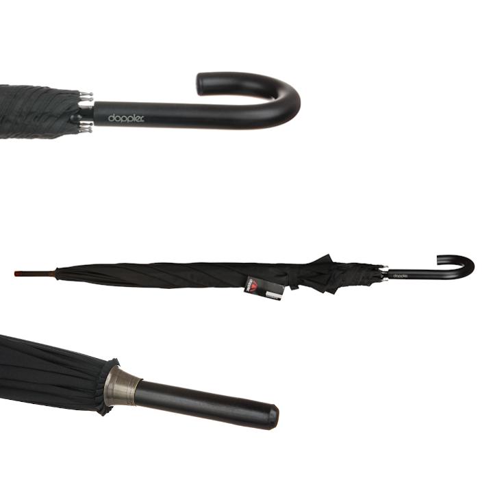 Umbrele Doppler Golf Black Star AC tip baston negre